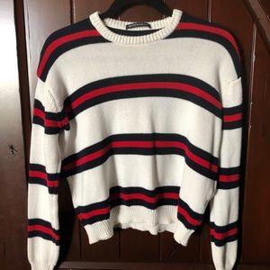 Brandy Melville Stripe Bernadette Sweater